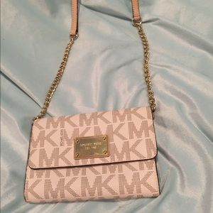 Michael Kors clutch with removable strap